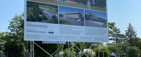 Baseball Stadion mit Sporthalle und Verwaltung
